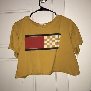 Yellow knockoff Tommy Hilfiger crop too